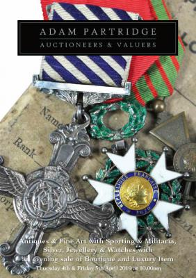 Antiques & Fine Art with Sporting, Militaria, Silver, Jewellery & Watches 2019-04-04 Image