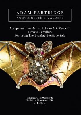 Antiques & Fine Art with Asian Art, Musical, Silver & Jewellery Plus an Evening Boutique Sale 2019-10-31 Image