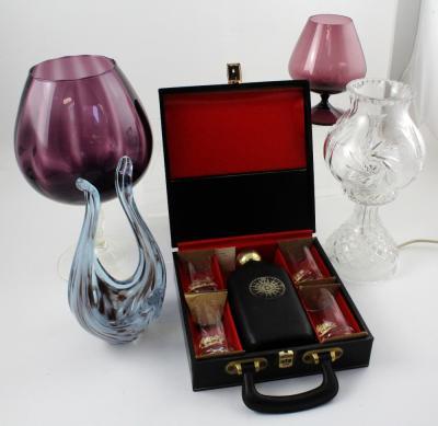 British Charitable Dartington Glass Vase With Ribbed Square Design #3050 Glass
