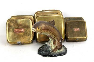 Living Explorers Dolphin Brass Hooks Small Set of 4